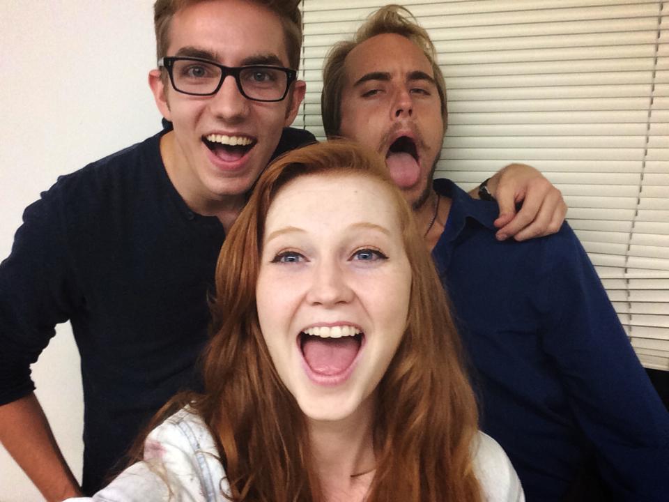 Polygenic cast selfie woo