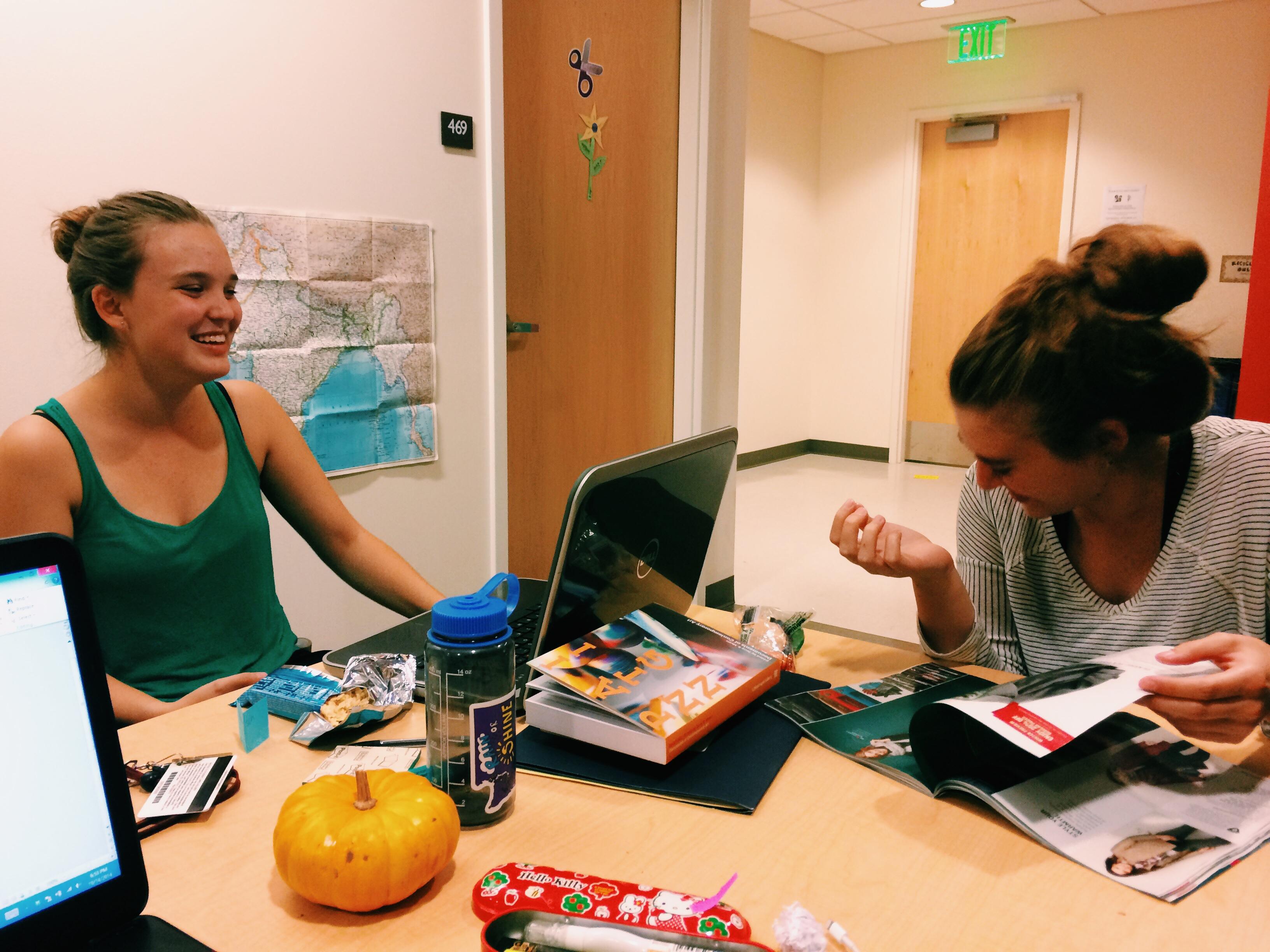 Midterm study giggles!