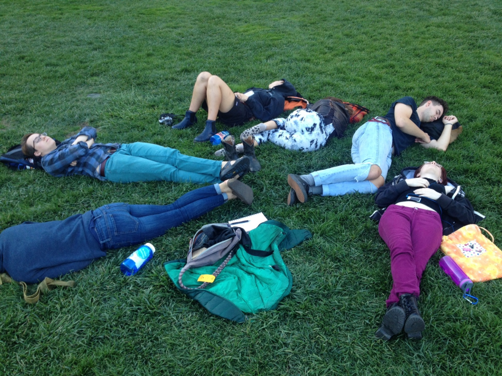 Nap in the Yerba Buena Gardens