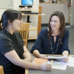 CES staff counseling student