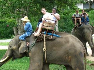 jesse atop elephant