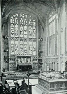 A once Catholic church that was whitewashed during Shakespeare's time