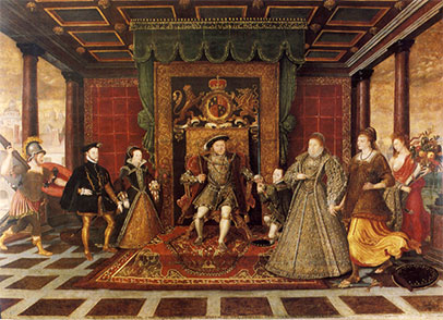 Figure 1. Family of Henry VIII, an Allegory of the Tudor Succession (Wikimedia).