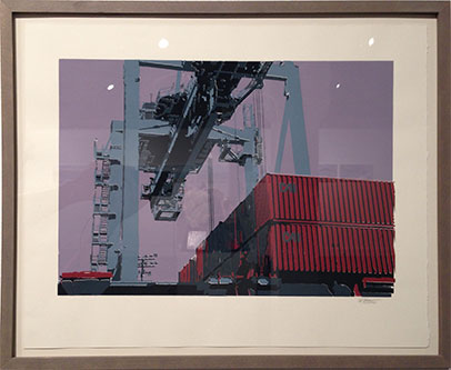 Containers II (screen print)  2017