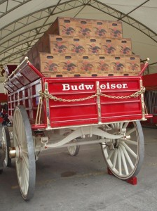 Budweiser Anheuser-Busch, distributed in over 80 countries.