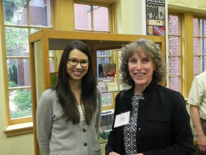 Katie Henningsen (left) poses with Laura Russell, recipient of the Collins Library Award. hoto credit: Mark Hoppmann