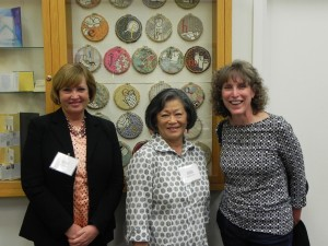(From left to right) Jane Carlin, Director of Collin Memorial Library stands with MalPina Chan and Laura Russell photo credit: Mark Hoppmann