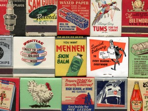Matchbooks:  From the collection of Jessica Spring