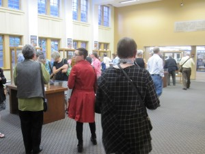 Visitors to the opening reception of the 5th Annual PSBA Members' Exhibition