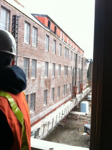 The brickwork is now finished, this was taken in mid April as they were wrapping up. It is spectacular!
