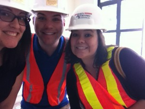 Safety first! Hard hat tour, here we come.