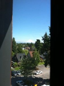 Some lucky students will have a view of Mt. Rainier.