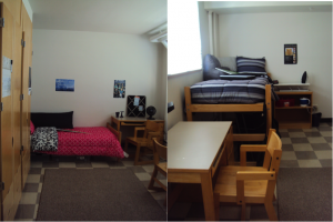 While all rooms vary, this is your typical residence hall room and furniture