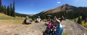Gunnison National Forest 9/9/2015                          Lunch and Paleozoic sediments