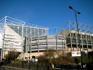 This is where the Magpies (Newcastle United FC) play.
