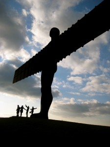 "The ""Angel of the North"", about 20 minutes outside Newcastle, is the largest sculpture in the UK and is probably the largest angel sculpture in the world!"