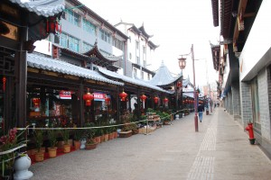 A central marketplace in Tonghai, before the hustle and bustle of morning.