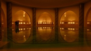 Hamam beneath Hassan II Mosque. Not a typical hamam at all, but certainly beautifull!