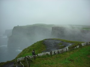 The Cliffs of Moher as a Fog Rolled In