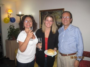 Me with my host mom Gladys and host dad Ignacio