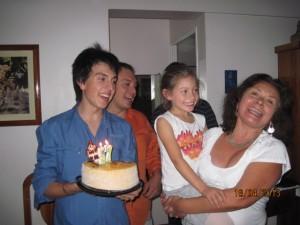singing Feliz Cumpleaños to Gladys