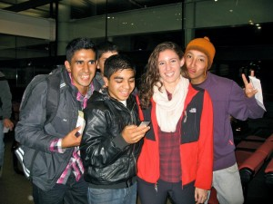 Ana-Elisa, one of the girls in my group being bombarded with Chileans who wanted their picture with her.