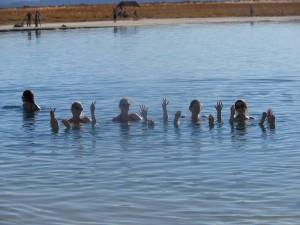 swimming in Laguna Cejar