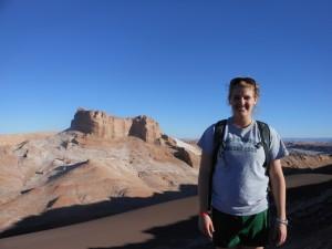 at the top of Valle de Luna