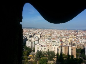 View of Barcelona from the Nativity Towers