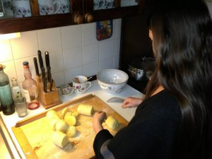 Making Potato Dumplings in Plzen