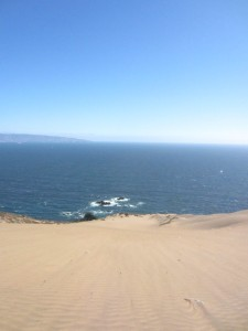 From atop a dune in Concón