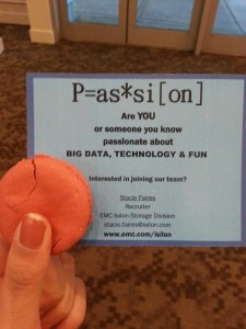 Tech companies recruiting through giving out free macaroons? I dig it.