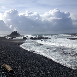 The world famous cobbled beach at Yaquina Head.  It might look like it is going to rain soon, but it didn't.