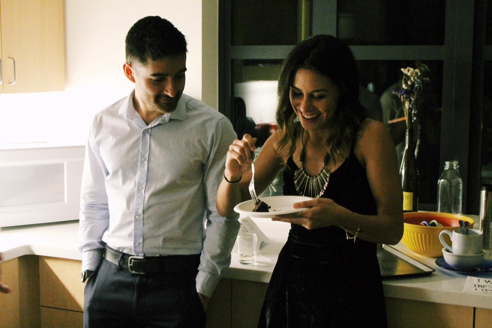 The cutest couple + cake