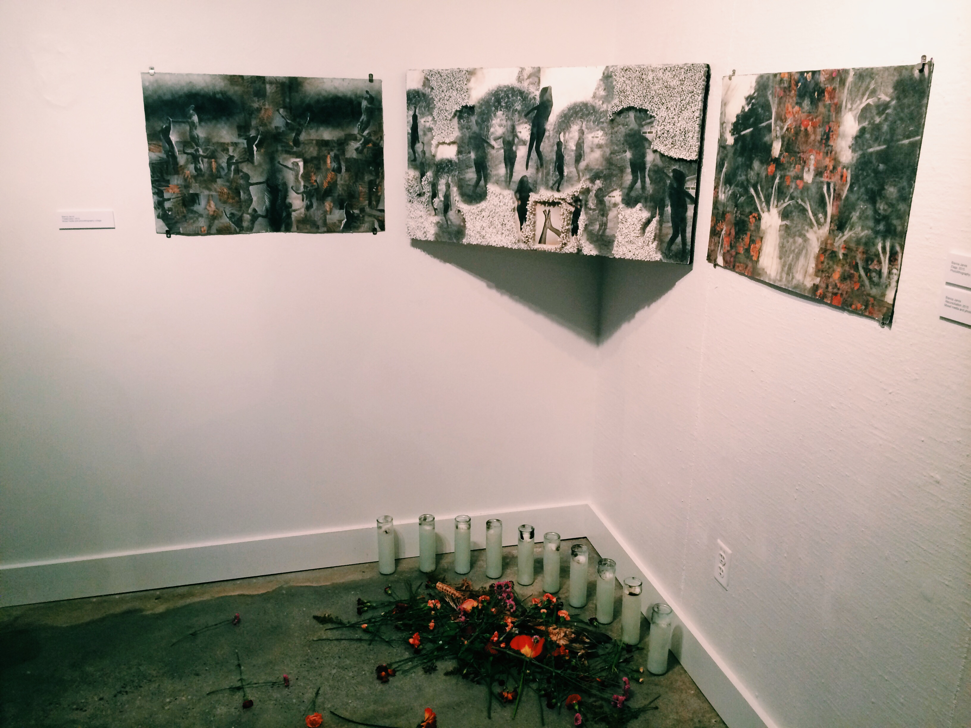 Several pieces by Bianca Jarvis, including Elegy and Reconciliation