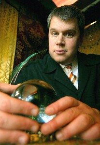 Lemony Snicket, who may or may not be the pen name of author Daniel Handler, pictured above.