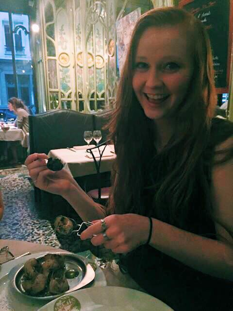 I even tried escargot! (I pretended it fit under the pescatarian diet)