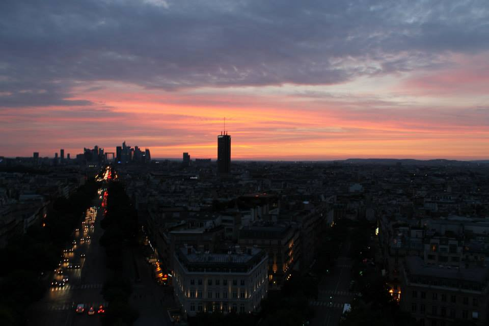Sunset from atop the Arch de Triumph