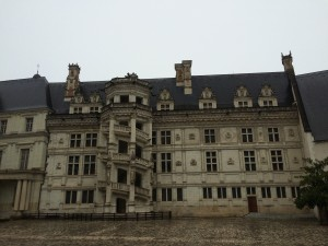One side of the chateau; note the dope staircase built by Francois I.