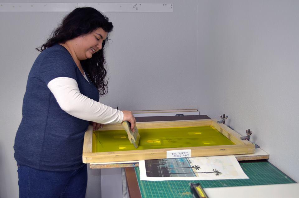 Print maker Gaby Yoque