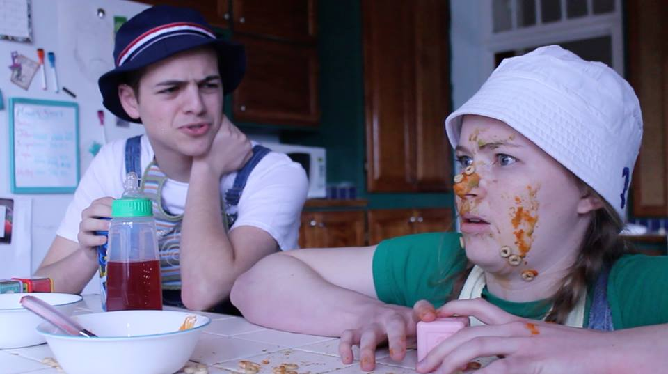 A still from this semester's video sketch: Kids at a Bar