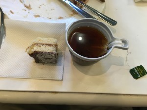 Tea and cake we ate on one of our group meals in the international dorms.
