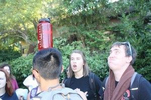 Ashley and Ben were impressed with my Nalgene balancing skills