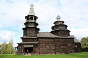 Wooden Cathedrals in Novgorod, Russia.