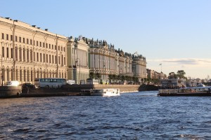 Neva River canal tour shot