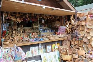 Little market in Novgorod, Russia.