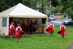 Traditional Berezka dancers in Novgorod, Russia.