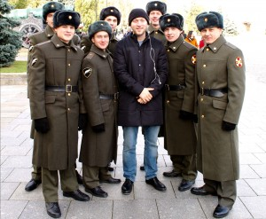 Me with a group of Russian Soldiers I got to take this picture (don't ask me how).