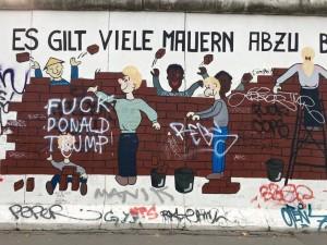 Berlin Wall art, I swear it wasn't us who vandalized it.