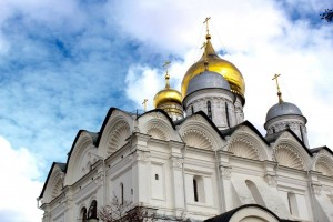 Cathedrals inside the Kremlin in Moscow, Russia Part II (yes there is a filter).
